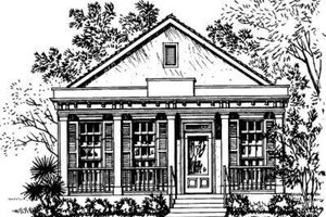 Southern Exterior - Front Elevation Plan #325-229
