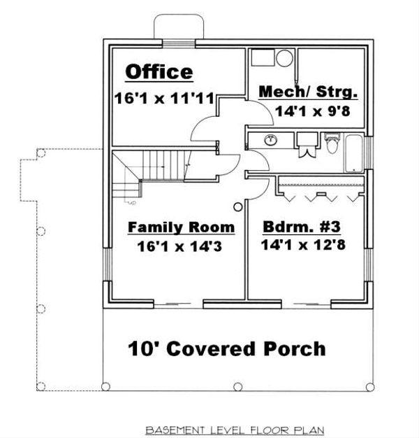 Log Floor Plan - Lower Floor Plan Plan #117-556