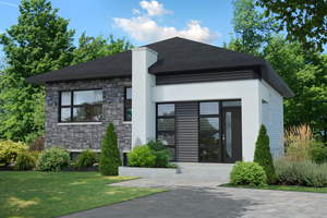 Contemporary Exterior - Front Elevation Plan #25-4662