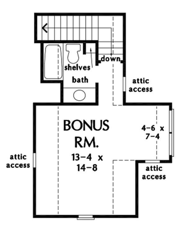 House Design - Farmhouse Floor Plan - Upper Floor Plan #929-1114