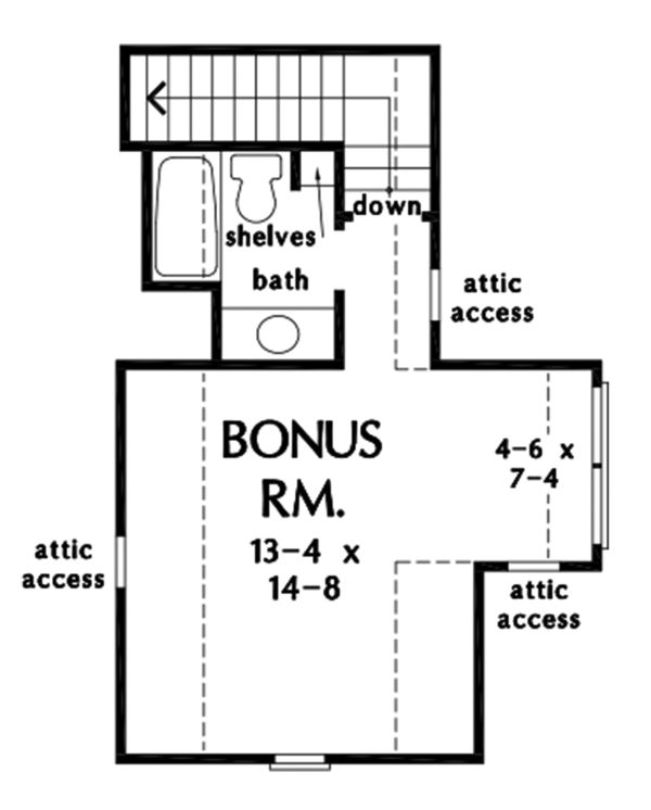 House Plan Design - Farmhouse Floor Plan - Upper Floor Plan #929-1114