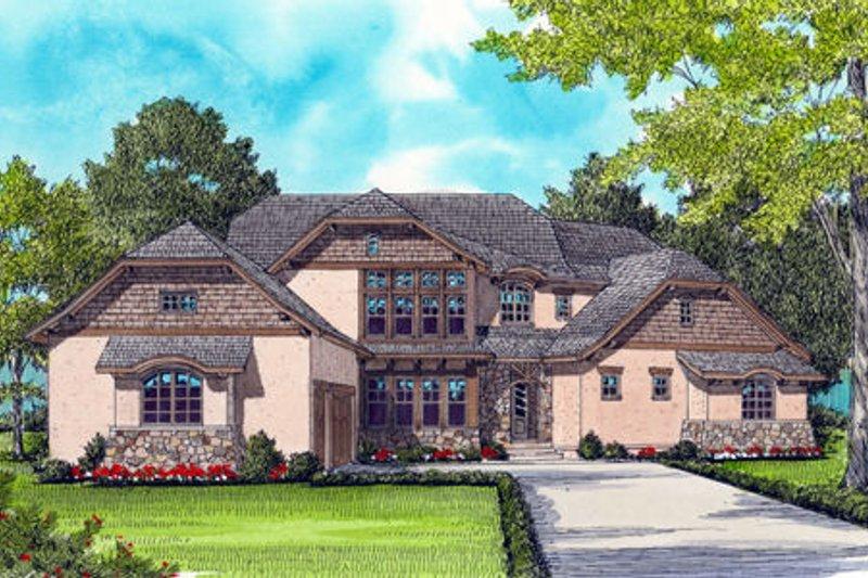 Dream House Plan - European Exterior - Front Elevation Plan #413-823
