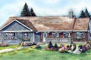 Ranch Style House Plan - 3 Beds 3 Baths 1787 Sq/Ft Plan #427-9 Exterior - Front Elevation