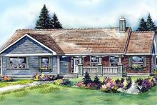 Ranch Exterior - Front Elevation Plan #427-9