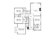 Craftsman Floor Plan - Upper Floor Plan Plan #929-1031