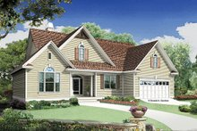 Dream House Plan - Traditional Exterior - Front Elevation Plan #929-951