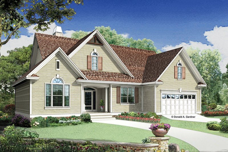 Architectural House Design - Traditional Exterior - Front Elevation Plan #929-951