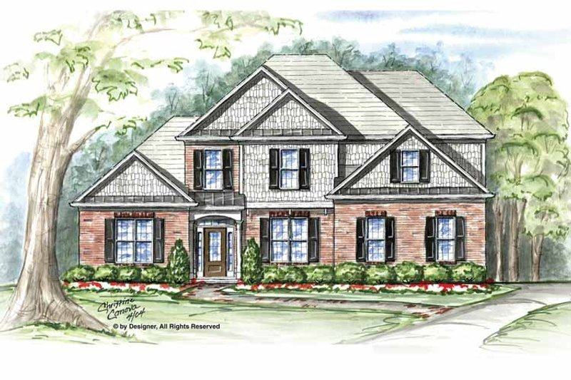 Craftsman Exterior - Front Elevation Plan #54-306 - Houseplans.com