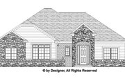 Traditional Style House Plan - 3 Beds 2.5 Baths 1994 Sq/Ft Plan #1057-4 Exterior - Front Elevation