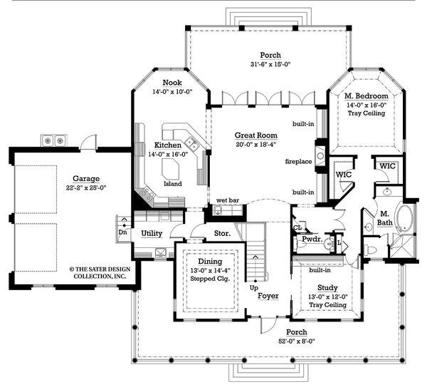 House Design - Country Floor Plan - Main Floor Plan #930-10