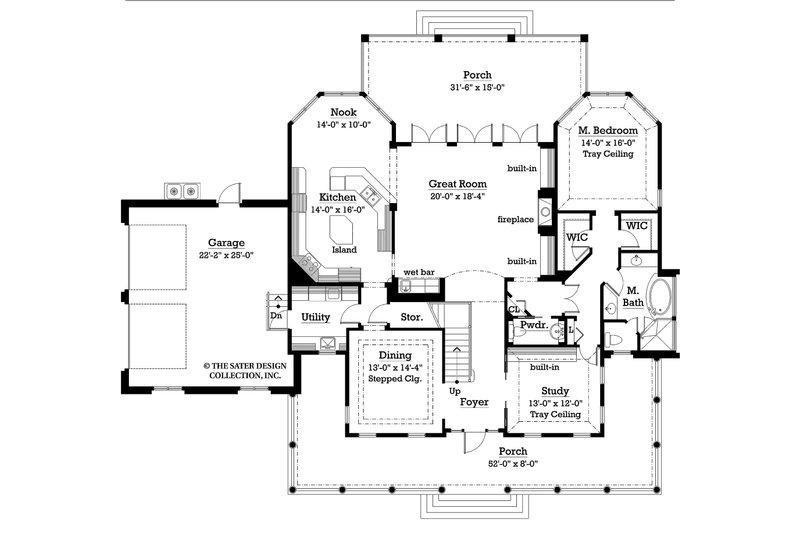 Country Floor Plan - Main Floor Plan Plan #930-10