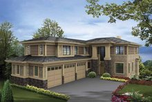 Prairie Exterior - Front Elevation Plan #132-518