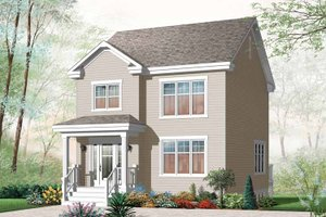 Country Exterior - Front Elevation Plan #23-2552