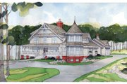 Victorian Style House Plan - 4 Beds 4 Baths 4106 Sq/Ft Plan #928-35 Exterior - Front Elevation