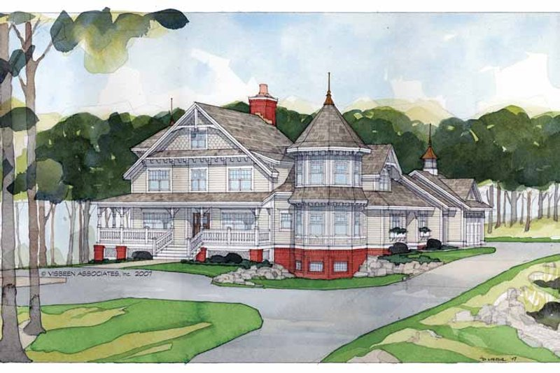 Victorian Exterior - Front Elevation Plan #928-35 - Houseplans.com