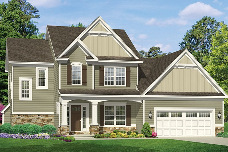 Traditional Exterior - Front Elevation Plan #1010-118 - Houseplans.com