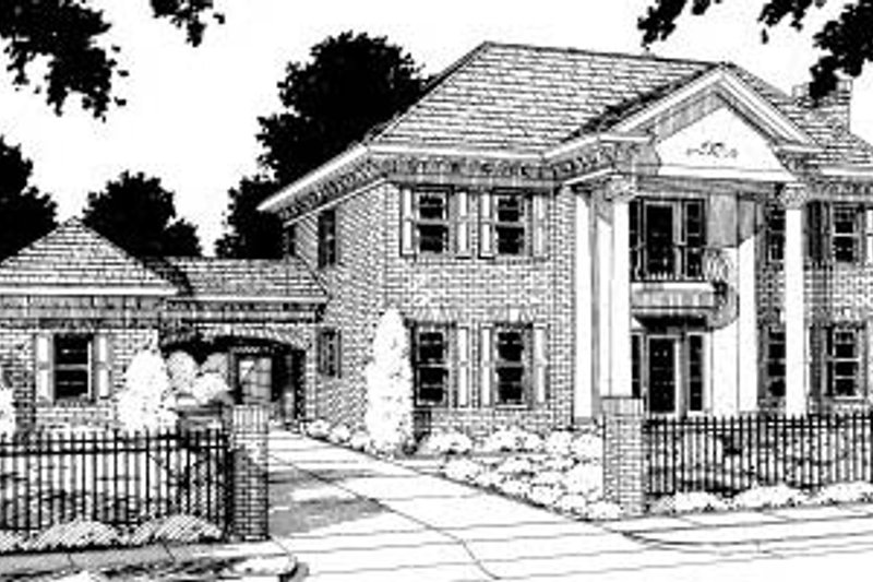 Architectural House Design - Colonial Exterior - Front Elevation Plan #20-304