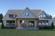Country Style House Plan - 3 Beds 2 Baths 1784 Sq/Ft Plan #1070-37 Exterior - Rear Elevation