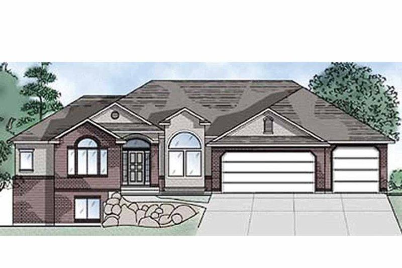 Traditional Exterior - Front Elevation Plan #945-15 - Houseplans.com