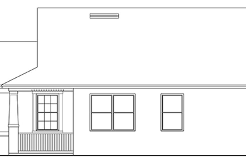 Ranch Exterior - Other Elevation Plan #1058-106 - Houseplans.com