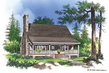 Country Exterior - Front Elevation Plan #929-112