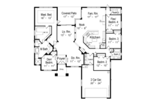 Mediterranean Floor Plan - Main Floor Plan Plan #417-795