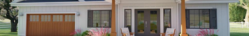 Tiny House with Garage Floor Plans, Designs & Blueprints