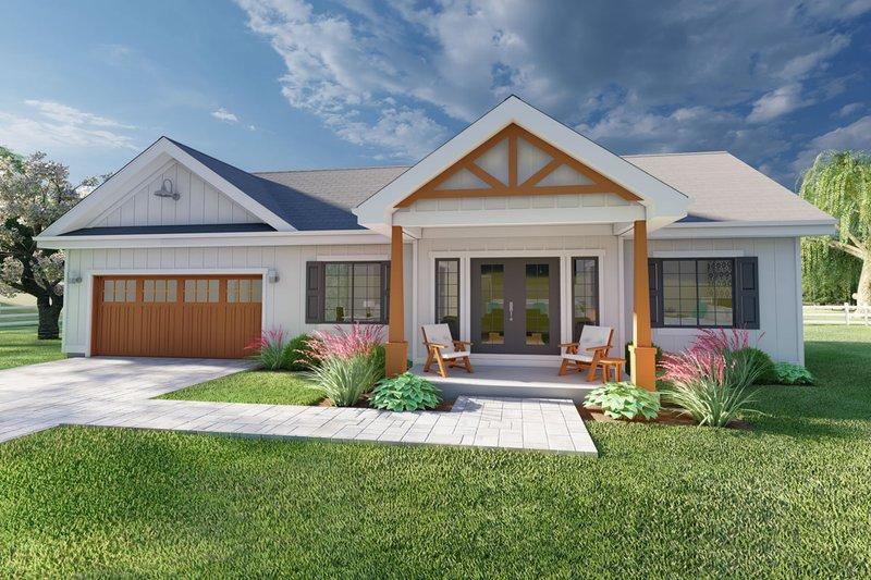 Dream House Plan - Farmhouse Exterior - Front Elevation Plan #126-175