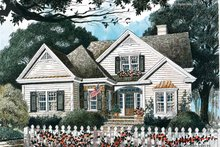 Home Plan - Country Exterior - Front Elevation Plan #429-340