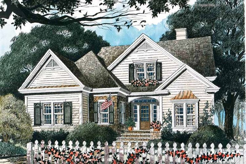 Country Exterior - Front Elevation Plan #429-340