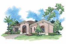 House Plan Design - Mediterranean Exterior - Front Elevation Plan #930-382