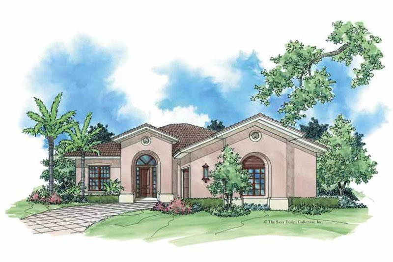 Mediterranean Exterior - Front Elevation Plan #930-382 - Houseplans.com