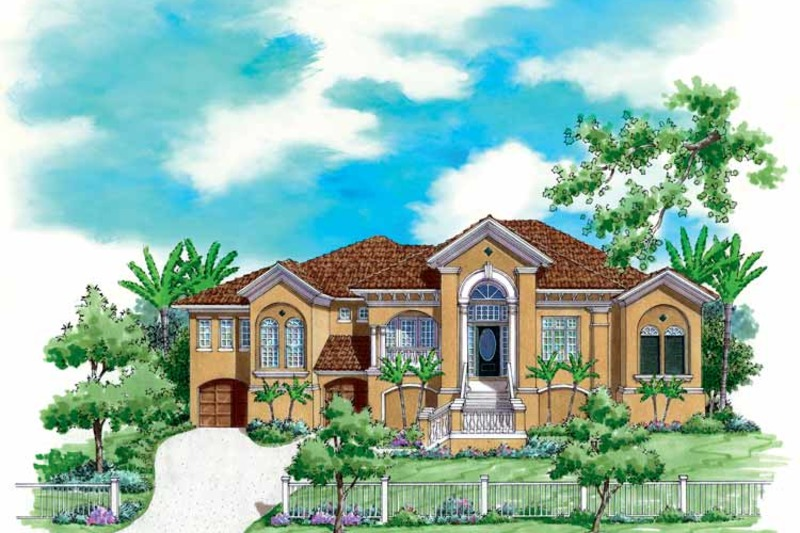 Mediterranean Exterior - Front Elevation Plan #930-172 - Houseplans.com
