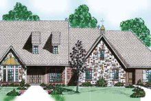 Home Plan - Traditional Exterior - Front Elevation Plan #52-250