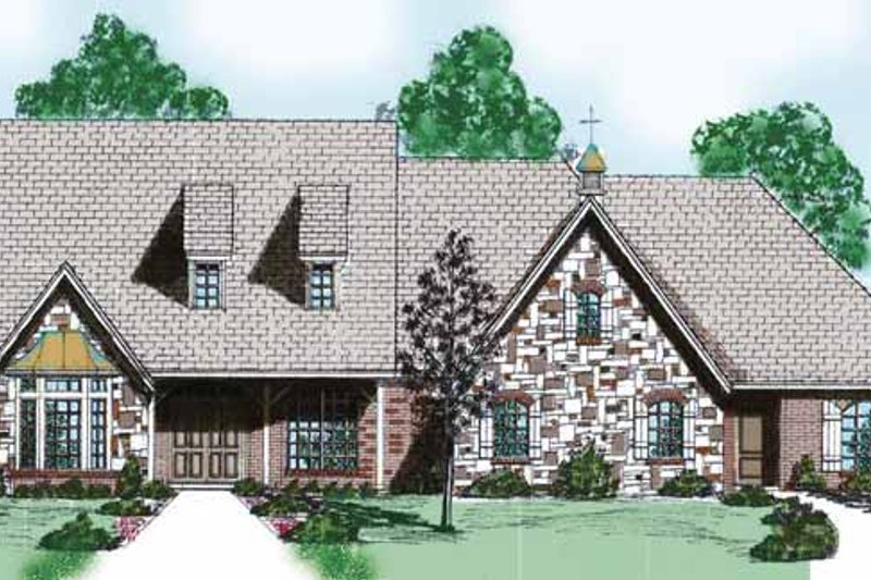 Traditional Exterior - Front Elevation Plan #52-250 - Houseplans.com