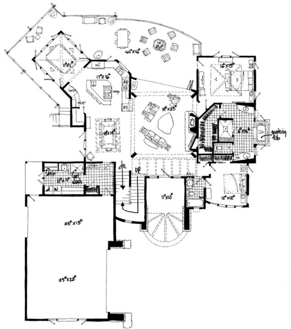 Craftsman Floor Plan - Main Floor Plan Plan #942-11