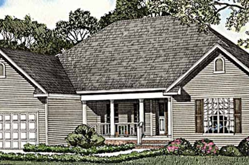 Country Exterior - Front Elevation Plan #17-3255 - Houseplans.com