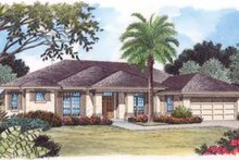 House Plan Design - Mediterranean Exterior - Front Elevation Plan #417-769