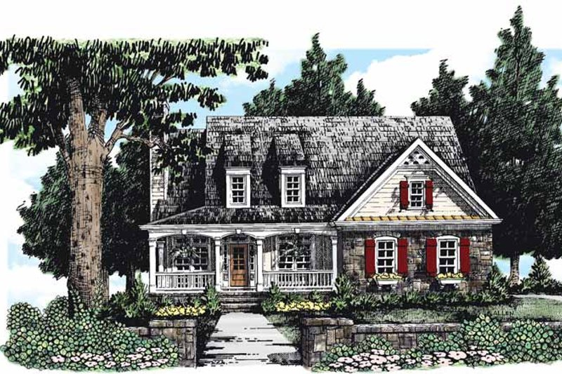 Country Exterior - Front Elevation Plan #927-281