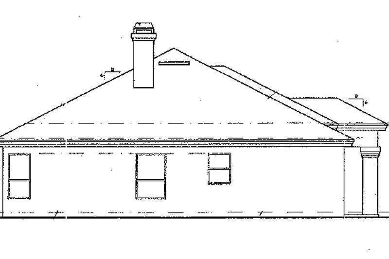 Mediterranean Exterior - Other Elevation Plan #417-486 - Houseplans.com