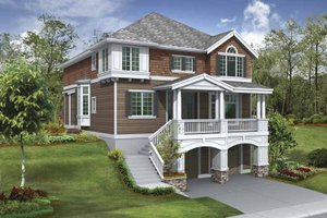 House Design - Craftsman Exterior - Front Elevation Plan #132-383