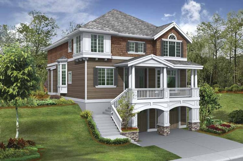 Craftsman Exterior - Front Elevation Plan #132-383