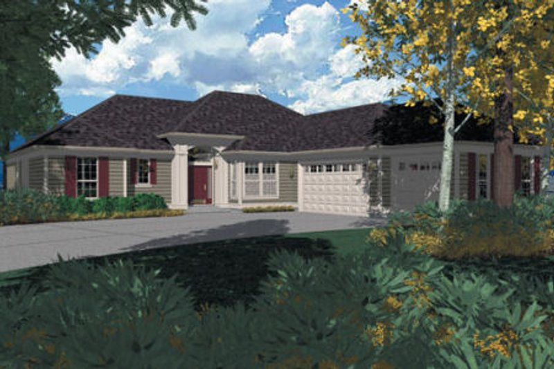 Traditional Exterior - Front Elevation Plan #48-206