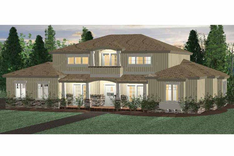 House Plan Design - Prairie Exterior - Front Elevation Plan #937-30