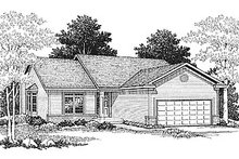 Architectural House Design - Traditional Exterior - Front Elevation Plan #70-105