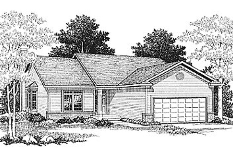 Traditional Exterior - Front Elevation Plan #70-105 - Houseplans.com
