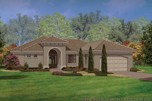 Dream House Plan - Mediterranean Exterior - Front Elevation Plan #930-452