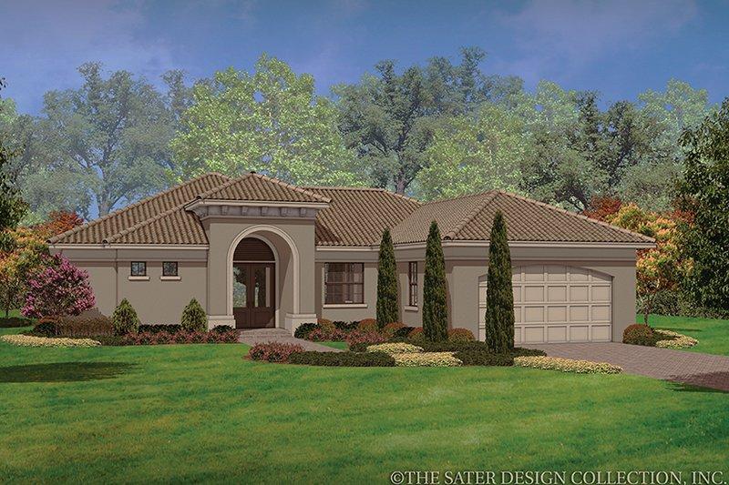 House Plan Design - Mediterranean Exterior - Front Elevation Plan #930-452
