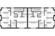 Craftsman Style House Plan - 3 Beds 2.5 Baths 900 Sq/Ft Plan #126-200 Floor Plan - Upper Floor