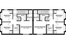 Craftsman Floor Plan - Upper Floor Plan Plan #126-200